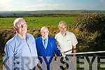 Pictured are residents of Bog Lane who are worried about the restoration of the bog if the drains are filled in, l-r: Tom Fitzgerald, Michael O'Connor and John Looney.