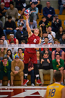 STANFORD, CA - March 10, 2018: Russell Dervay at Burnham Pavilion. UC Irvine defeated the Stanford Cardinal, 3-0.