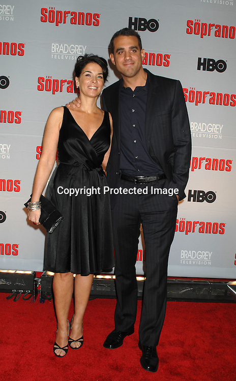 Annabella Sciorra and boyfriend Bobby Cannavale ..arriving at The Sopranos World Premiere of two new episodes of the HBO original series on March 27, 2007 at..Radio City Music Hall in New York...Robin Platzer, Twin Images