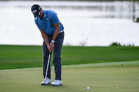 Wesley Bryan (USA) watches his putt on 9 during round 2 of the Honda Classic, PGA National, Palm Beach Gardens, West Palm Beach, Florida, USA. 2/24/2017.<br /> Picture: Golffile | Ken Murray<br /> <br /> <br /> All photo usage must carry mandatory copyright credit (&copy; Golffile | Ken Murray)