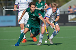 Eindhoven, Netherlands, April 20: During the EHL KO8 match between Mannheimer HC (white) and HTC Uhlenhorst Muelheim (green) on April 20, 2019 at HC Oranje-Rood in Eindhoven, Netherlands. Final score 4-4 (4-2 SO). (Photo by Dirk Markgraf / www.265-images.com) ***