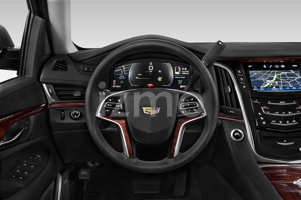 Car pictures of steering wheel view of a 2017 Cadillac Escalade Luxury 5 Door SUV Steering Wheel