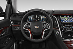 Car pictures of steering wheel view of a 2017 Cadillac Escalade Luxury 5 Door SUV Steering Wheel