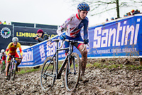 Picture by Alex Whitehead/SWpix.com - 03/02/2018 - Cycling - 2018 UCI Cyclo-Cross World Championships - Valkenburg, The Netherlands - Great Britain's Jenson Young competes in the Junior Men's race.