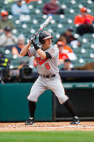 Corey Toups #6 of the Sam Houston State Bearkats at bat against the Texas Christian Horned Frogs at Minute Maid Park on February 28, 2014 in Houston, Texas.  The Bearkats defeated the Horned Frogs 9-4.  (Brian Westerholt/Four Seam Images)