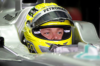 HOCKENHEIM, ALEMANHA, 20 JULHO 2012 - FORMULA 1 - GP DA ALEMANHA -  O piloto Nico Rosberg (GER, Mercedes AMG Petronas F1 Team) durante o primeiro dia de treinos livres no circuito de Hockenheim nesta sexta-feira, 20. Domingo acontece a 10 etapa da F1 no GP da Alemanha. (FOTO: PIXATHLON / BRAZIL PHOTO PRESS).