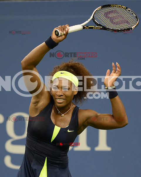 FLUSHING NY- SEPTEMBER 5: Serena Williams Vs Ana Ivanovic on Armstrong stadium at the USTA Billie Jean King National Tennis Center on September 5, 2012 in in Flushing Queens. Credit: mpi04/MediaPunch Inc. ***NO NY NEWSPAPERS*** /NortePhoto.com<br /> <br /> **CREDITO*OBLIGATORIO** *No*Venta*A*Terceros*<br /> *No*Sale*So*third* ***No*Se*Permite*Hacer...<br /> more »