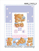 Stephen, BABIES, paintings, 4 bears, blue(GBUK13615/2,#B#)