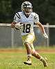 David Garcia #18 of Baldwin returns a punt during the first quarter of a Nassau County Conference I varsity football game against host Hempstead High School on Saturday, Sept. 17, 2016. Baldwin won by a score of 36-28.