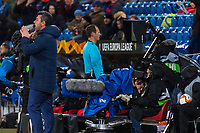27th February 2020; St Jakob Park, Basel, Switzerland; UEFA Europa League Football, FC Basel versus APOEL Nicosia; After consulting VAR the referee Pavel Kralovec (CZE) awards a penalty to FC Basel