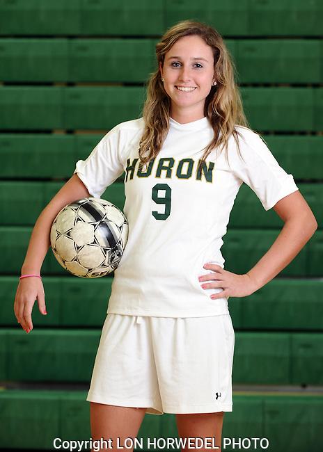 Huron High School varsity girl's soccer, 4-10-13.