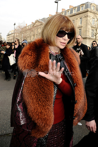 Hotel de Ville, Paris, France. 29 February 2012. Anna Wintour leaving Dries Van Noten's ready to wear fashion-show © C.Granier-Deferre/Newspictures/MediaPunch Inc. ***FOR USA ONLY***