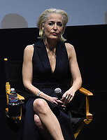 LOS ANGELES - JANUARY 10: Actor Gillian Anderson attends the 20th Century Fox Television 2018 Winter TCA studio day for 'The X-Files' on the Fox Studio Lot on January 10, 2018 in Los Angeles, California. (Photo by Frank Micelotta/Fox/PictureGroup)