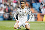 Real Madrid's Cristiano Ronaldo dejected during La Liga match. April 29,2015. (ALTERPHOTOS/Acero)