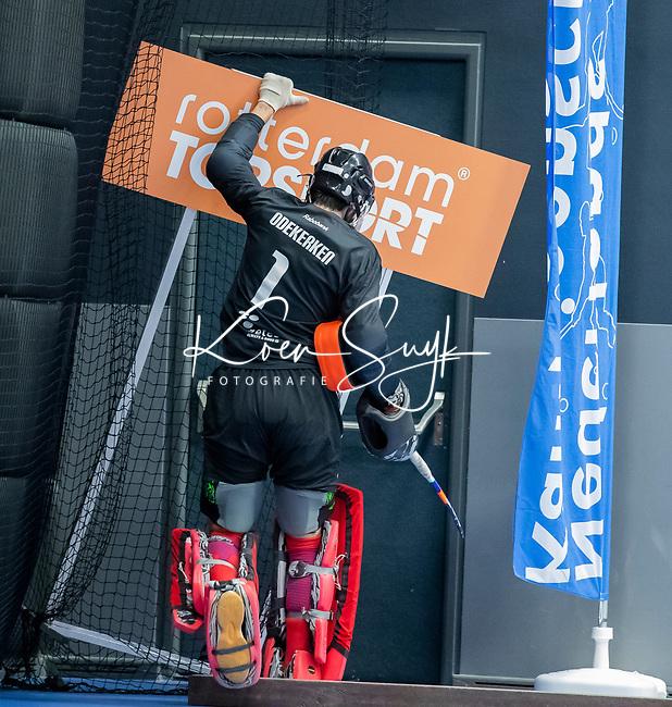 ROTTERDAM  - NK Zaalhockey,   halve finale heren Oranje Rood-SCHC (SCHC wint en plaatst zich voor de finale) . Rotterdam Topsport,  Odekerken.   COPYRIGHT KOEN SUYK