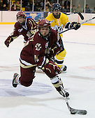 Steven Whitney (BC - 21) - The Merrimack College Warriors defeated the Boston College Eagles 5-3 on Sunday, November 1, 2009, at Lawler Arena in North Andover, Massachusetts splitting the weekend series.