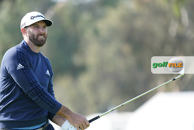 Dustin Johnson (USA) during the Pro-Am ahead of the The Genesis Invitational, Riviera Country Club, Pacific Palisades, Los Angeles, USA. 11/02/2020<br /> Picture: Golffile | Phil Inglis<br /> <br /> <br /> All photo usage must carry mandatory copyright credit (© Golffile | Phil Inglis)