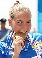 13th Fina World Championships From 17th to 2nd August 2009.Roma 22th July 2009 -.Women's Open Water Swimming 10Km - Nuoto Acque Libere 10Km.Martina Grimaldi (ITA) Bronze Medal - Medaglia di Bronzo.photo: Roma2009.com/InsideFoto/SeaSee.com .Foto Andrea Staccioli Insidefoto