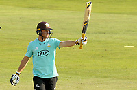 Laurie Evans of Surrey celebrates scoring fifty runs during Essex Eagles vs Surrey, Vitality Blast T20 Cricket at The Cloudfm County Ground on 11th September 2020
