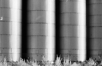 Infrared grain silos, Texico, New Mexico.<br /> <br /> Nikon F3HP, 105mm lens, Kodak High Speed infrared film, red filter