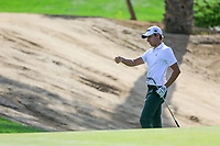 Joakim Lagergren (SWE) on the 8th green during the 1st round of  the Saudi International powered by Softbank Investment Advisers, Royal Greens G&CC, King Abdullah Economic City,  Saudi Arabia. 30/01/2020<br /> Picture: Golffile | Fran Caffrey<br /> <br /> <br /> All photo usage must carry mandatory copyright credit (© Golffile | Fran Caffrey)