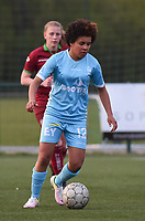 20170414 - Zulte , BELGIUM : AA Gent's Kassandra Ndoutou Eboa Missipo pictured during the soccer match between the women teams of Zulte Waregem and AA Gent Ladies , in the semi final matchday of the Belgian CUP - Beker van Belgie voor Vrouwen competition on Friday 14th April 2017 in Zulte .  PHOTO SPORTPIX.BE DIRK VUYLSTEKE
