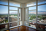 The view from a penthouse in The Montage, an old casino renovated into luxury condos in downtown Reno, Nevada, July 6, 2012.