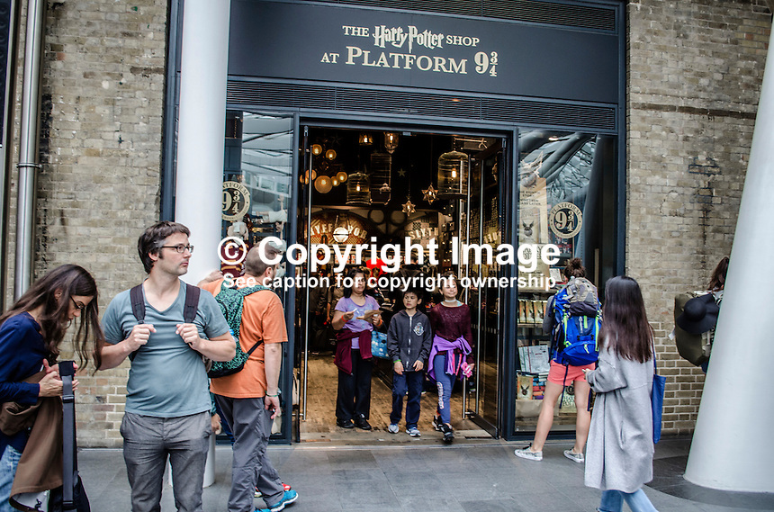 Harry Potter Shop at Platform 9 &amp; 3/4, St Pancras Railway Station, London, UK, 4th September 2016. 201609044258<br /> <br /> Copyright Image from Victor Patterson, 54 Dorchester Park, Belfast, UK, BT9 6RJ<br /> <br /> t1: +44 28 9066 1296 (from Rep of Ireland 048 9066 1296)<br /> t2: +44 28 9002 2446 (from Rep of Ireland 048 9002 2446)<br /> m: +44 7802 353836<br /> <br /> e1: victorpatterson@me.com<br /> e2: victorpatterson@gmail.com<br /> <br /> The use of my copyright images is subject to my Terms &amp; Conditions.<br /> <br /> It is IMPORTANT that you familiarise yourself with them. They are available on my website at www.victorpatterson.com.<br /> <br /> None of my copyright images may be used on a website unless they are visibly watermarked, i.e. &copy; Victor Patterson within the body of the visible image. Metadata denoting my copyright must NOT be deleted. Maximum online size is 300 kbs. Web use is extra at currently recommended NUJ rates.