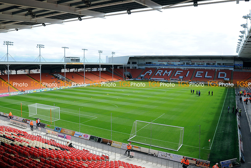 General view of Bloomfield Road ahead of kick off - Blackpool vs Reading - Sky Bet Championship Football at Bloomfield Road, Blackpool, Lancashire - 24/08/13 - MANDATORY CREDIT: Greig Bertram/TGSPHOTO - Self billing applies where appropriate - 0845 094 6026 - contact@tgsphoto.co.uk - NO UNPAID USE