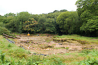 SAVEOCK WATER, CORNWALL, ENGLAND - AUGUST 03: Overview of main site on August 3, 2008 in Saveock Water, Cornwall, England, featuring periods from a Mesolithic Camp to Neolithic Votive site and Copper Age metal smelting. Archaeologist Jacqui Wood is leading the excavation here. (Photo by Manuel Cohen)