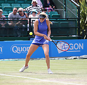 June 16th 2017, Nottingham, England; WTA Aegon Nottingham Open Tennis Tournament day 5;  Donna Vekic of Croatia who defeated Maria Sakkari of Greece in the quarter final