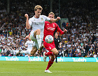Leeds United's Patrick Bamford takes on Nottingham Forest's Joe Worrall<br /> <br /> Photographer Alex Dodd/CameraSport<br /> <br /> The EFL Sky Bet Championship - Leeds United v Nottingham Forest - Saturday 10th August 2019 - Elland Road - Leeds<br /> <br /> World Copyright © 2019 CameraSport. All rights reserved. 43 Linden Ave. Countesthorpe. Leicester. England. LE8 5PG - Tel: +44 (0) 116 277 4147 - admin@camerasport.com - www.camerasport.com