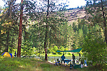 Oregon, river rafting,  riverside campsite, Grande Ronde River, Northeastern Oregon, Pacific Northwest,