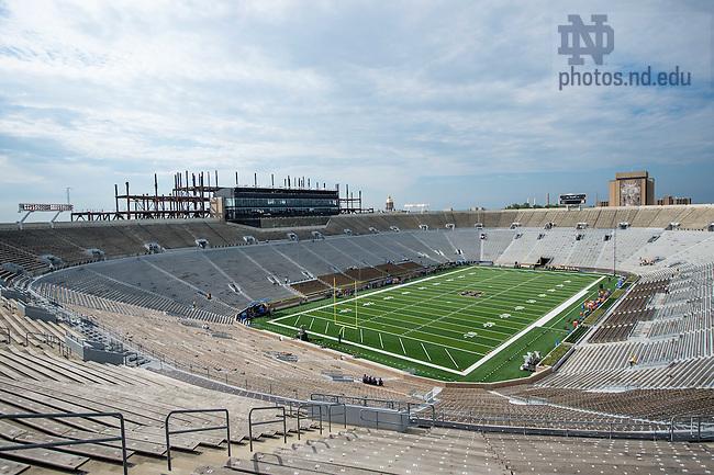 Sept. 5, 2015; Notre Dame Stadium before the game against Texas. (Photo by Matt Cashore)