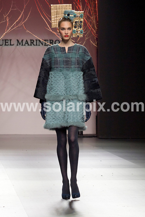 **ALL ROUND PICTURES FROM SOLARPIX.COM**                                             **WORLDWIDE SYNDICATION RIGHTS EXCEPT SPAIN - NO SYNDICATION IN SPAIN**                                                                                  05/02/2011. Madrid.Spain. MBFWM. Mercedes Benz Fashion week Madrid. Miguel Marinero Show.                  .This pic:   Miguel Marinero Show.                                                                                   JOB REF:    14433  DMS Kakunina  DATE: 05.02.12                                                           **MUST CREDIT SOLARPIX.COM OR DOUBLE FEE WILL BE CHARGED**                                                                      **MUST AGREE FEE BEFORE ONLINE USAGE**                               **CALL US ON: +34 952 811 768 or LOW RATE FROM UK 0844 617 7637**