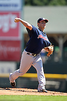 Pawtucket Red Sox pitcher Adam Mills during a game vs. the Rochester Red Wings at Frontier Field in Rochester, New York;  August 29, 2010.   Rochester defeated Pawtucket 6-3.  Photo By Mike Janes/Four Seam Images