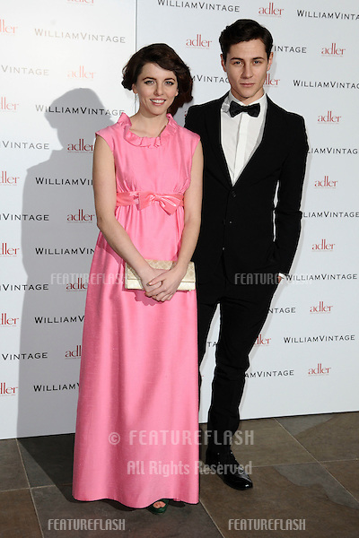 Ophelia Lovibond and Augustas Prew arriving for the William Vintage dinner at the Renaissance Hotel St Pancras, London. 10/02/2012 Picture by: Steve Vas / Featureflash