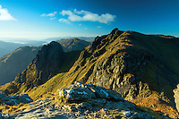 The Cobbler South Peak from the North Peak, the Arrochar Alps, Loch Lomond and the Trossachs National Park, Argyll & Bute