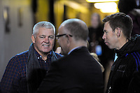 British and Irish Lions coach Warren Gatland chats with All Blacks manager Darren Shand before The Rugby Championship match between the NZ All Blacks and Argentina Pumas at FMG Stadium in Hamilton, New Zealand on Saturday, 10 September 2016. Photo: Dave Lintott / lintottphoto.co.nz