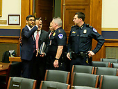 """Sundar Pichai, Chief Executive Officer of Google, left, arrives to give testimony before the United States House Committee on the Judiciary on """"Transparency & Accountability: Examining Google and its Data Collection, Use and Filtering Practices"""" on Capitol Hill in Washington, DC on Tuesday, December 11, 2018.<br /> Credit: Ron Sachs / CNP<br /> (RESTRICTION: NO New York or New Jersey Newspapers or newspapers within a 75 mile radius of New York City)"""