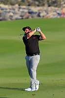 Andrew Johnson (ENG) during the first round of the NBO Open played at Al Mouj Golf, Muscat, Sultanate of Oman. <br /> 15/02/2018.<br /> Picture: Golffile | Phil Inglis<br /> <br /> <br /> All photo usage must carry mandatory copyright credit (&copy; Golffile | Phil Inglis)