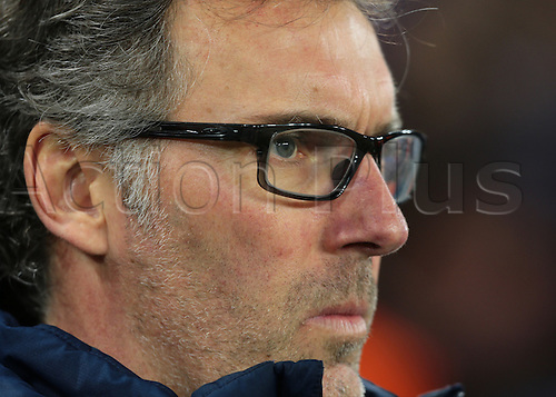 09.03.2016. Stamford Bridge, London, England. Champions League. Chelsea versus Paris Saint Germain. Paris St. Germain Manager Laurent Blanc