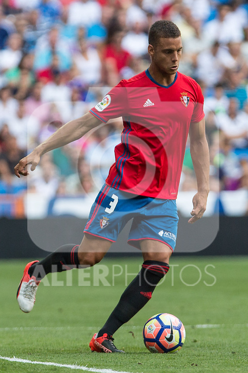 Club Atletico Osasuna's Tano Bonnin during the match of La Liga between Real Madrid and Club Atletico Osasuna at Santiago Bernabeu Estadium in Madrid. September 10, 2016. (ALTERPHOTOS/Rodrigo Jimenez)
