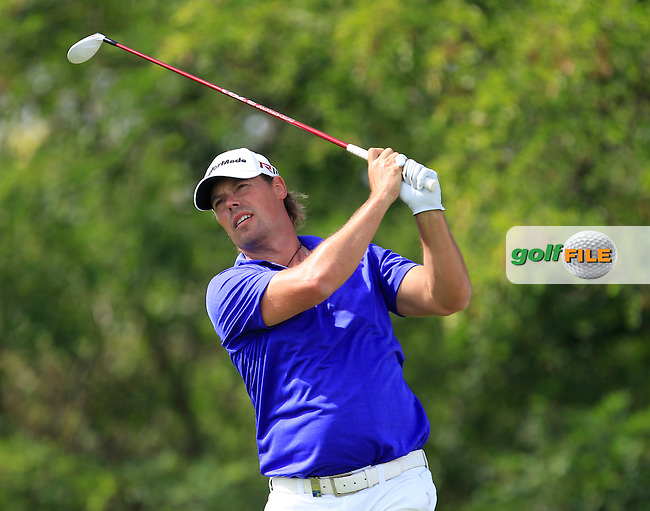 Mikael Lundberg (SWE) on the 6th tee during Round 1 of the D+D Real Czech Masters at the Albatross Golf Resort on Thursday 27th August 2015.<br /> Picture:  Thos Caffrey / www.golffile.ie