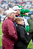 January 01, 2010:   Florida State head coach Bobby Bowden and his wife Ann watch a video of Coach Bowden prior to the start of the Konica Minolta Gator Bowl College football action between the West Virginia Mountaineers and the Florida State Seminoles played at the Jacksonville Municipal Stadium in Jacksonville, Florida on January 01, 2010.  Florida State defeated West Virginia 33-21.