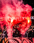 ***BETALBILD***  <br /> Solna 2015-05-31 Fotboll Allsvenskan AIK - Helsingborgs IF :  <br /> AIK:s supporter med bengaler under matchen mellan AIK och Helsingborgs IF <br /> (Foto: Kenta J&ouml;nsson) Nyckelord:  AIK Gnaget Friends Arena Allsvenskan Helsingborg HIF supporter fans publik supporters bengal bengaler tifo pyro pryroteknik Ultra Ultras