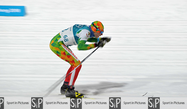 Veselin Tsinzov (BUL). Mens sprint classic qualification. Cross country skiing. Alpensia Croos-Country skiing centre. Pyeongchang2018 winter Olympics. Alpensia. Republic of Korea. 13/02/2018. ~ MANDATORY CREDIT Garry Bowden/SIPPA - NO UNAUTHORISED USE - +44 7837 394578