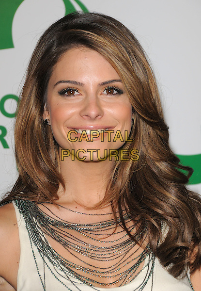 MARIA MENOUNOS .The 6th Annual Global Green USA Pre-Oscar Party benefiting Green Schools held at Avalon in Hollywood, California, USA..February 19th, 2009.headshot portrait silver necklaces .CAP/DVS.©Debbie VanStory/Capital Pictures.