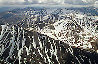 Aerial view of Romanzof Mountains part of the Brooks Range in the Arctic National Wildlife Refuge, Alaska, AGPix_0722.