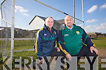 Joe McCrohan Secretary and Diarmuid O'Sé Chairman of the Depopulation Sub Committee of the County Board pictured here at The Con Keating Park, Cahersiveen.